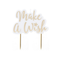 'Make A Wish' Gold Candle