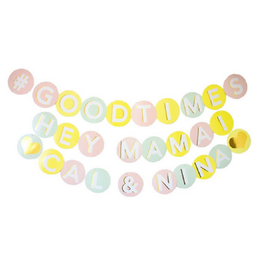 Sorbet Colored Letter Banner Kit