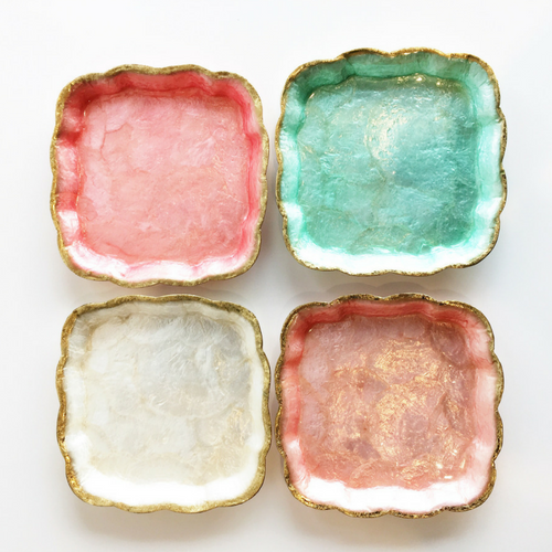 Sorbet Scalloped Plates - Set of 4