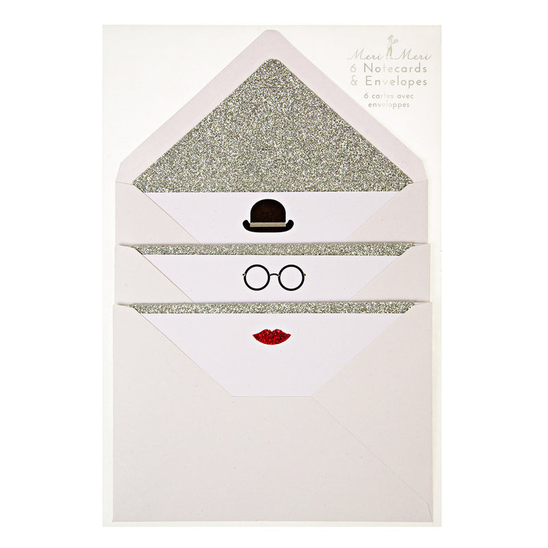 Hat, Glasses & Lips Cards