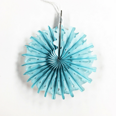 Mini Blue Paper Fan