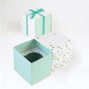 Mint Confetti - Cupcake Box