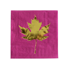 Gold Foil Leaf Napkins