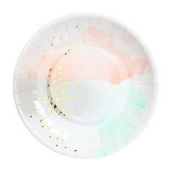 Blush And Mint Watercolor Plates