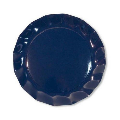 Navy Ruffled Plates