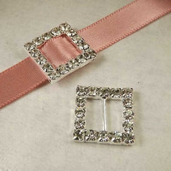 Square Buckle Ribbon Slide