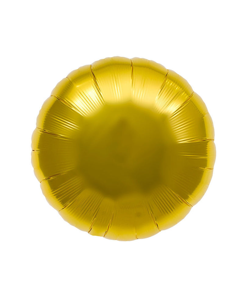Gold Round Balloons
