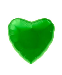 Green Foil Heart Balloon