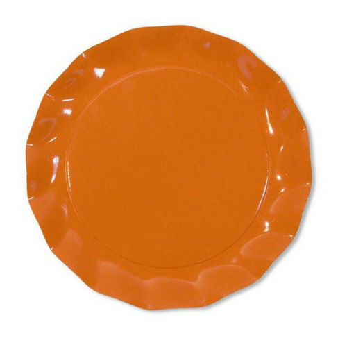 Orange ruffled Plates