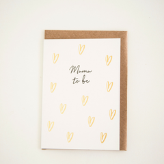 """Mama To Be"" Greeting Card"