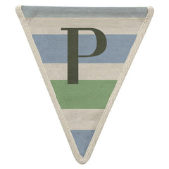 Fabric Bunting Letter P