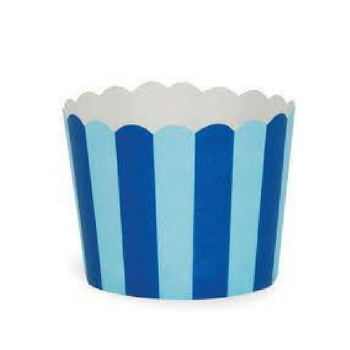 Light & Dark Blue Stripes - Baking Cups