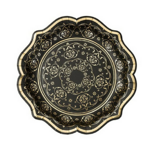 Black & Gold Baroque Plates