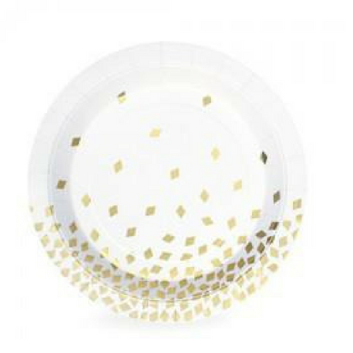 Gold Diamonds Plates