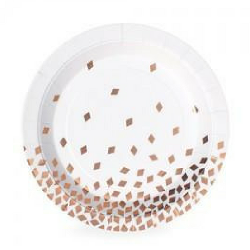 Rose Gold Diamonds Plates