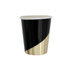 Black and Gold Foil Cups