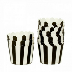 Black & White Stripes - Baking Cups