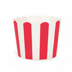 Red & White Stripes - Baking Cups