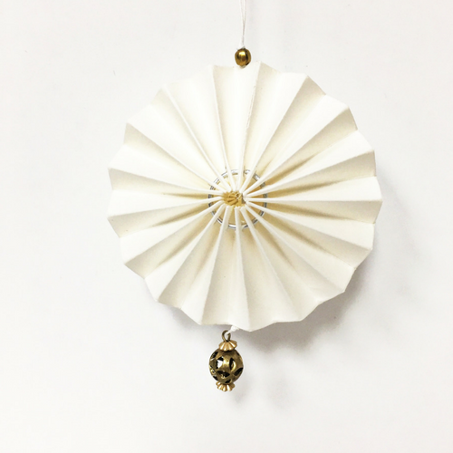 White Origami Fan Ornament Jollity Co Party Boutique