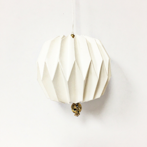 White Origami Ball Ornament