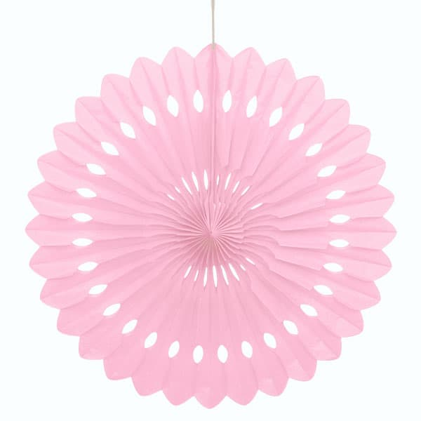 Pink Paper Fans, 5 Sizes