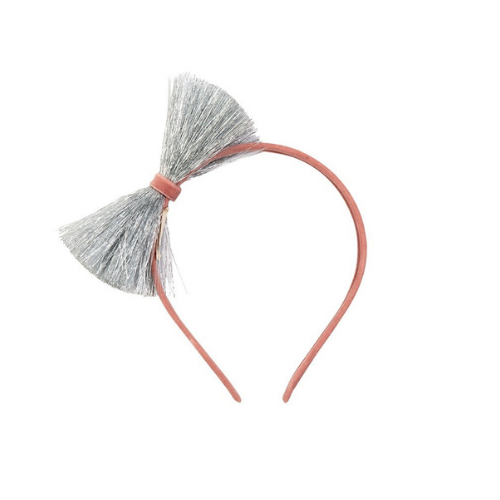 Pink & Silver Bow Headband, Jollity & Co