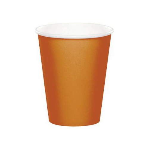 Pumpkin Colored Cups