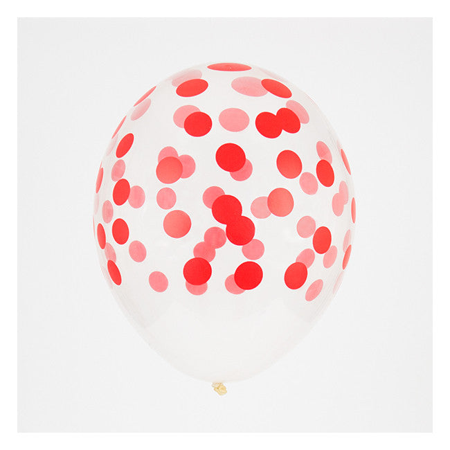 Red Confetti Patterned Balloon