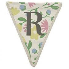 Fabric Bunting Letter R