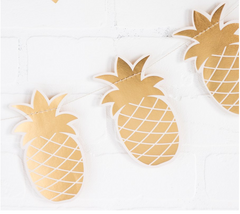 Gold Pineapple Banner Gold Foil Pineapple Party Bridal Shower