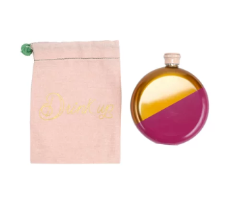 Hot Pink and Copper Flask