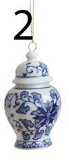 Blue and White Jar Ornaments