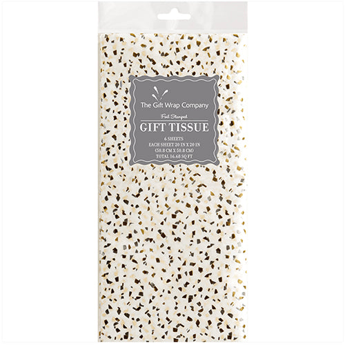 Silver and Gold Confetti Tissue Paper