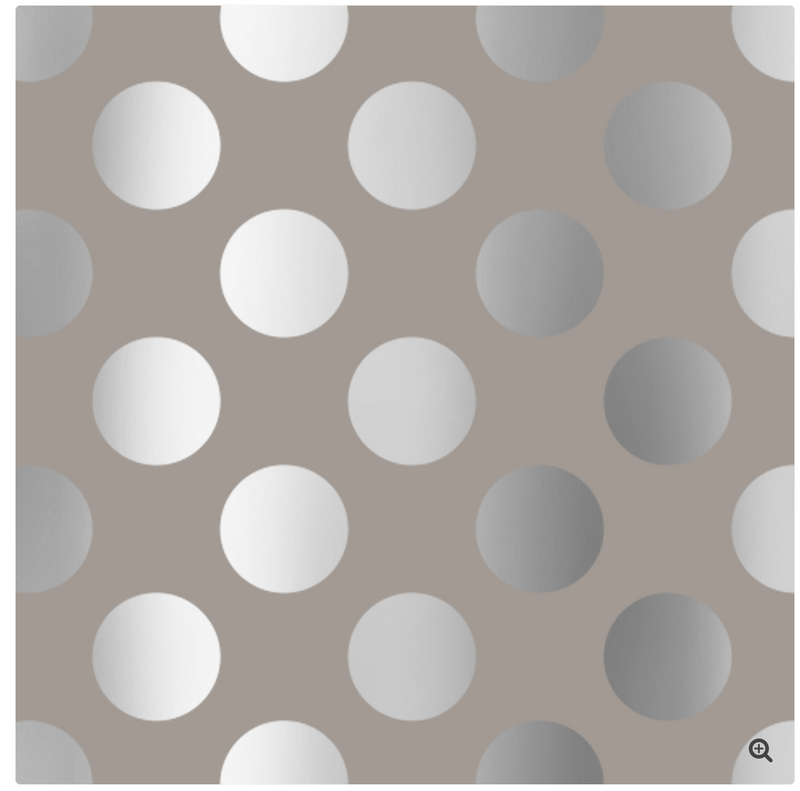 Jumbo Silver Polka Dot Wrapping Paper Roll