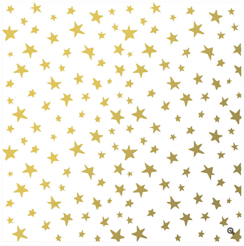 Golden Star Wrapping Paper