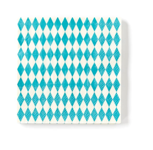 Blue Diamond Cocktail Napkins
