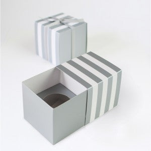 Grey Stripe - Cupcake Box