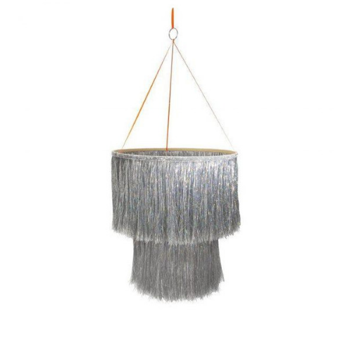 Tinsel Chandelier Silver, Jollity & Co