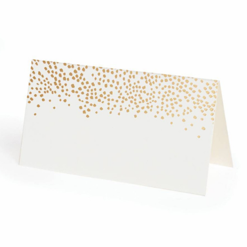Rose Gold Splatter Place Cards