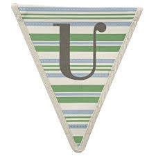 Fabric Bunting Letter U