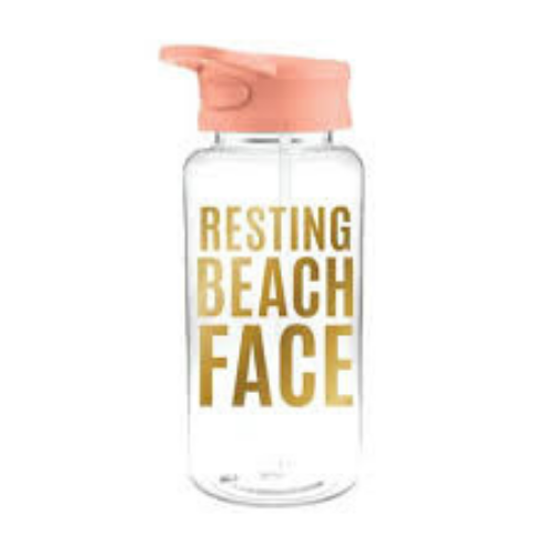 """Resting Beach Face"" Water Bottle"