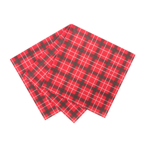 Plaid Santa Napkins