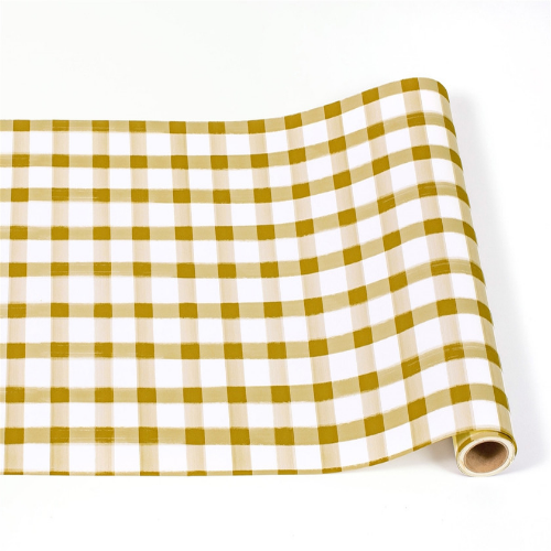 gold painted table runner