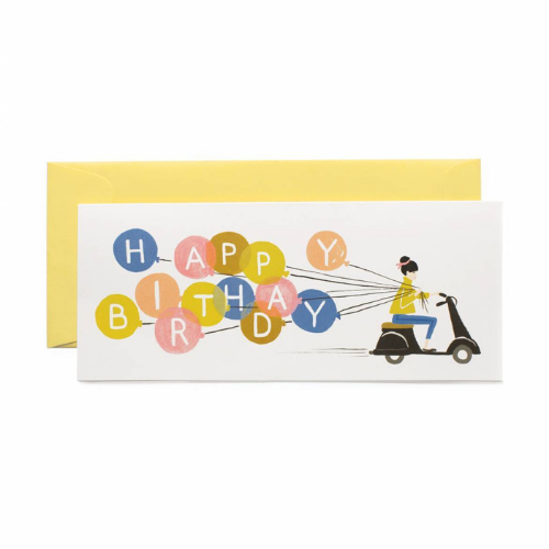 """Happy Birthday"" Scooter Girl Card"
