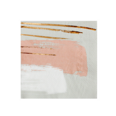 Blush Painted Cocktail Napkins