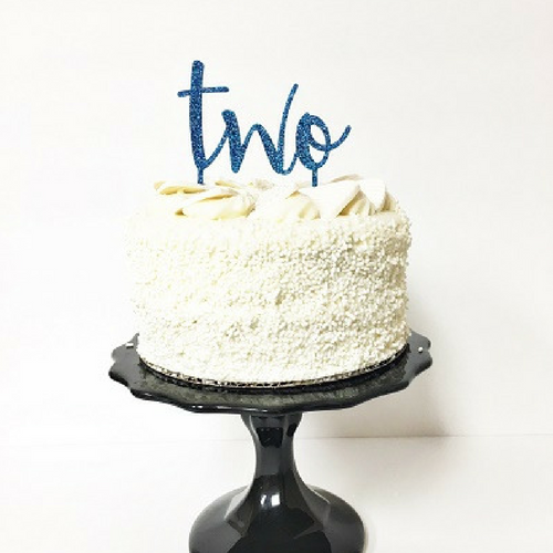 'Two' Cake Topper