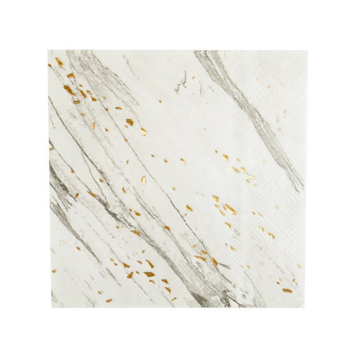 White & Black Marble Cocktail Napkin