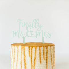 'Finally Mr. & Mrs.' Cake Topper