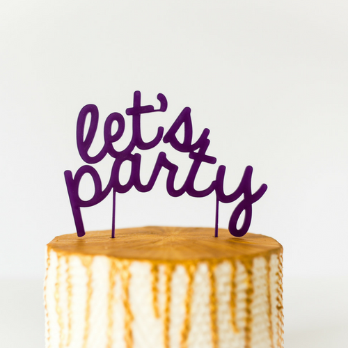 """Let's Party"" Cake Topper"