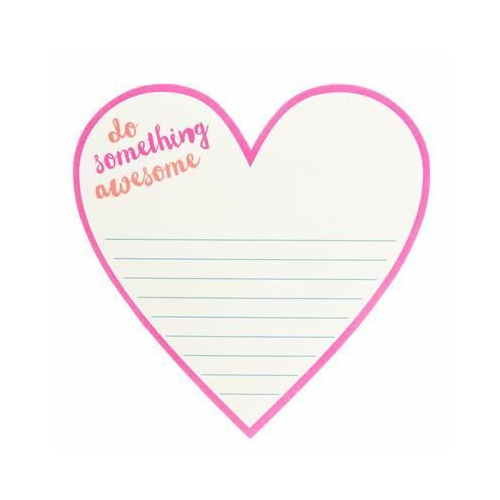 """Do Something Awesome"" Heart Note Pad"